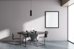 Salle à manger blanche panoramique de Minimalistic, affiche illustration libre de droits