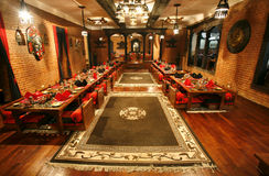 Salle à manger chinoise de restaurant Photos stock