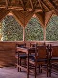 Salle à manger d'air ouvert au Népal Photo libre de droits
