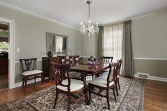 Salle à manger dans la maison de luxe photo stock