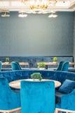 Salle à manger dans le restaurant d'un hôtel cinq étoiles dans Kranevo, Bulgarie Photo stock