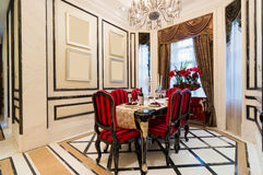 Salle à manger de luxe Photo stock