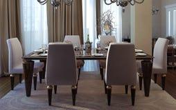 salle manger de luxe style dart dco illustration stock