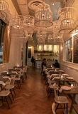 Salle à manger de Restaurant du Boeuf photo stock