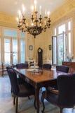 Salle à manger en villa privée La Havane Images stock