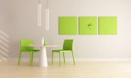 Salle à manger minimaliste Photographie stock libre de droits