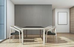 Salle à manger se réunissante et, maison avec la conception intérieure moderne illustration stock