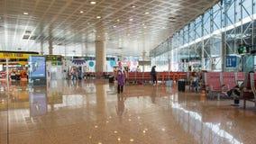 Salle d'attente à l'intérieur d'aéroport international de couillon d'EL Images stock