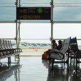 Salle d'attente à l'intérieur d'aéroport international de couillon d'EL Photos stock