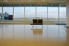 Salle d'attente d'aéroport Photo stock