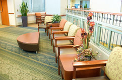 Salle d'attente d'hôpital photographie stock