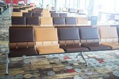 Salle d'attente moderne de terminal d'aéroport Image stock