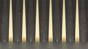 salle d'exposition 3d concrète abstraite Dessin géométrique moderne Fond blanc de plancher et de mur illustration stock