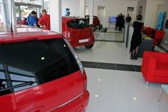 Salle d'exposition de véhicule images libres de droits