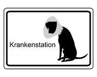 Salle d'hôpital de signe pour des chiens Image libre de droits