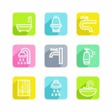Salle de bains illustration stock