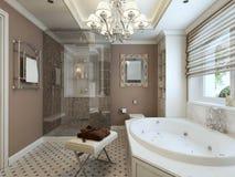 Salle de bains Art Deco Photographie stock