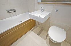 Salle de bains avec des appareils de créateur Photo libre de droits