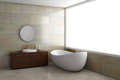 Salle de bains avec le tube Image libre de droits