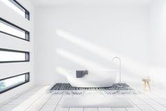Salle de bains blanche avec un baquet illustration stock