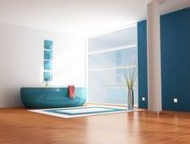 Salle de bains bleue illustration de vecteur