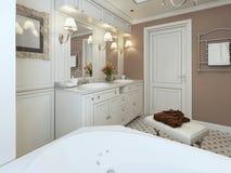 Salle de bains classique Photographie stock libre de droits