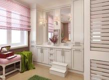 Salle de bains classique pour des filles Photographie stock