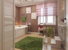 Salle de bains classique pour des filles Photographie stock libre de droits