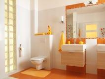Salle de bains colorée d'enfants avec la toilette Images stock