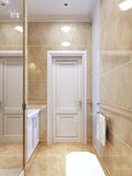 Salle de bains contemporaine avec la douche Image stock