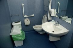 Salle de bains d'hôpital Photographie stock libre de droits