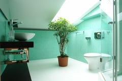 Salle de bains dans le grenier Photo libre de droits