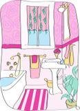 Salle de bains de bande dessinée Photo libre de droits