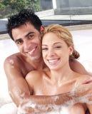 Salle de bains de couples. Photo stock