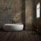 Salle de bains de cru Photo stock