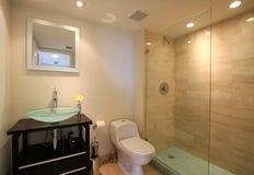 Salle de bains de luxe d'invité Photographie stock libre de droits