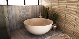 Salle de bains de station thermale Images stock