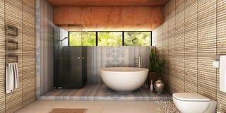 Salle de bains de station thermale Images libres de droits