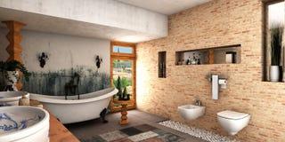 Salle de bains de station thermale Image libre de droits