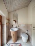 Salle de bains domestique images libres de droits