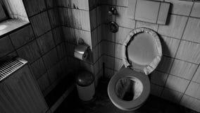 Salle de bains endommagée par l'incendie Images libres de droits