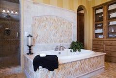 Salle de bains fleurie de luxe image libre de droits
