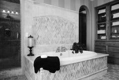 Salle de bains fleurie de luxe image stock