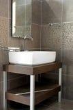 Salle de bains foncée Photos stock