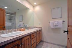Salle de bains intérieure Photographie stock libre de droits
