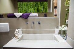 Salle de bains luxueuse moderne Photos stock