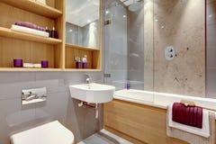 Salle de bains moderne de luxe Photographie stock libre de droits