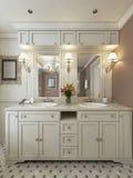 Salle de bains moderne de luxe Photographie stock