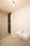 salle de bains Moitié-construite Photographie stock libre de droits