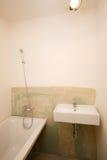 salle de bains Moitié-construite Image stock